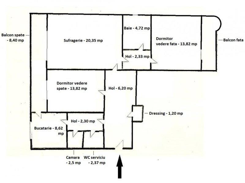 Apartament 3 camere Bdul Unirii - metrou Piata Unirii