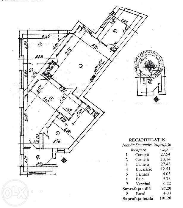 Apartament 3 camere Unirii