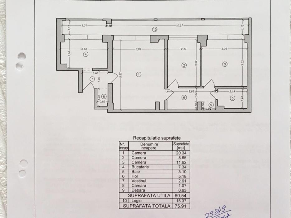 Imagine 7 Apartament 3 camere, 76 mp,  Iancului
