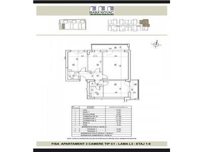 Apartament 3 camere Baba Novac Residence